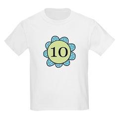 10 blue/green flower T-Shirt