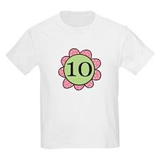 10 pink/green flower T-Shirt