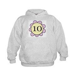 10 purple/yellow flower Hoodie