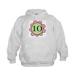 10 pink/green flower Hoodie