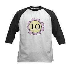 10 Kids purple/yellow flower Baseball Jersey