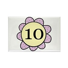 10 purple/yellow flower Rectangle Magnet