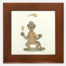 Monkey Juggling Framed Tile