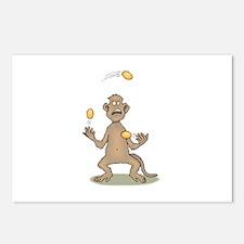 Monkey Juggling Postcards (Package of 8)