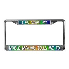 Do what Noble Macaw License Plate Frame