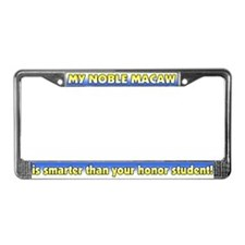 Honor Student Noble Macaw License Plate Frame