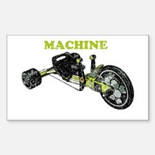 Green Machine Rectangle Decal