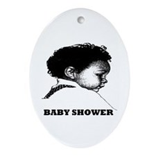 Baby Shower Oval Ornament