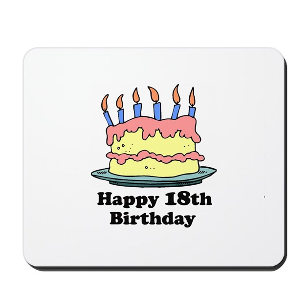 Happy 18th Birthday Mousepad By Screamscreens