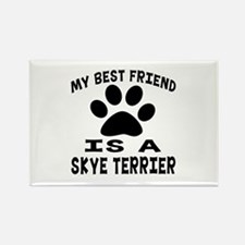 Skye Terrier Is My Best Friend Rectangle Magnet