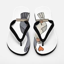 Pigeons in Love Flip Flops