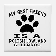 Polish Lowland Sheepdog Is My Best Fr Tile Coaster