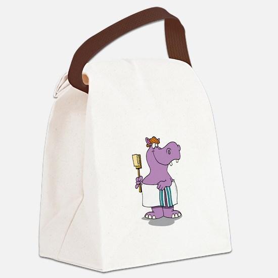 Hippo Bath Time Canvas Lunch Bag