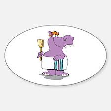 Hippo Bath Time Decal