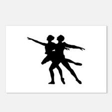 Silhouette of dancing cou Postcards (Package of 8)