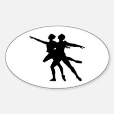 Silhouette of dancing couple Decal
