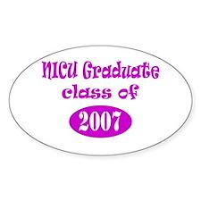 NICU Graduate Class of 2007 Oval Decal