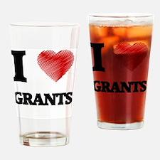Cute I heart grant Drinking Glass