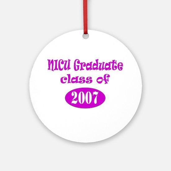 NICU Graduate Class of 2007 Ornament (Round)