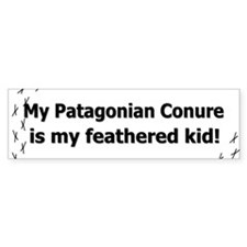 Feathered Kid Patagonian Conure Bumper Bumper Sticker