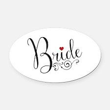 Elegant Bride Oval Car Magnet