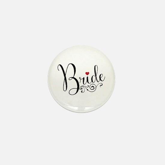 Elegant Bride Mini Button
