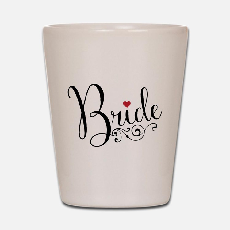 Elegant Bride Shot Glass