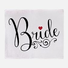 Elegant Bride Throw Blanket