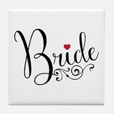 Elegant Bride Tile Coaster