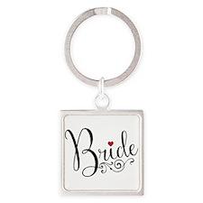 Elegant Bride Square Keychain