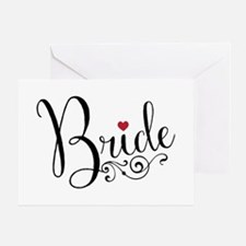 Elegant Bride Greeting Card