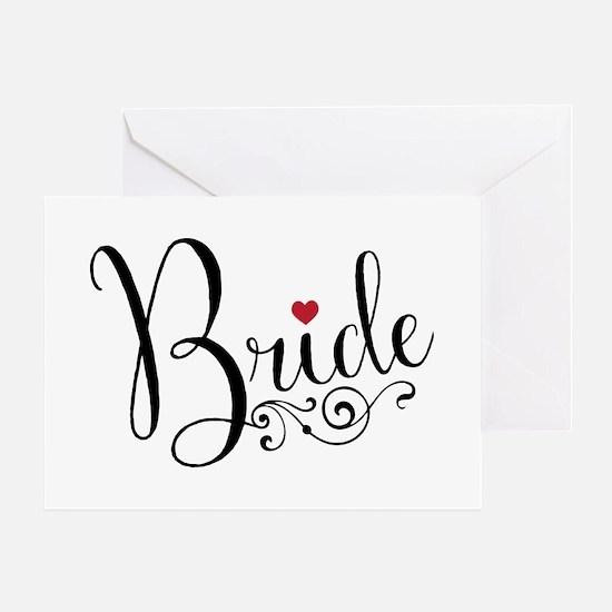 Elegant Bride Greeting Card