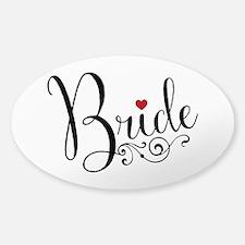 Elegant Bride Sticker (Oval)