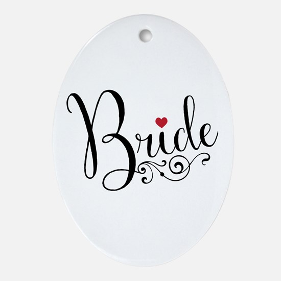 Elegant Bride Oval Ornament