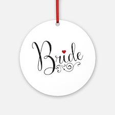 Elegant Bride Round Ornament
