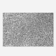 Silver Glitter Photo Postcards (Package of 8)