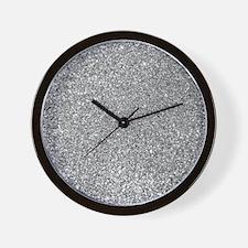 Silver Glitter Photo Wall Clock