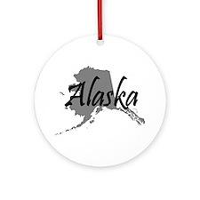 Alaska State Ornament (Round)