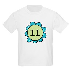Eleven Blue/Green Flower T-Shirt