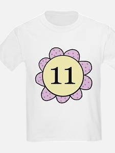 Eleven purple/yellow flower T-Shirt
