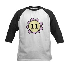 Eleven purple/yellow flower Tee
