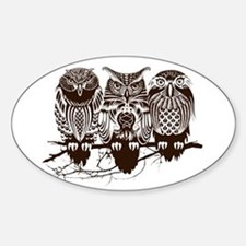 Three Owl Decal