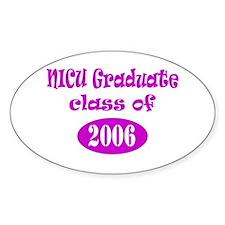 NICU Graduate Class of 2006 - Pink Oval Decal