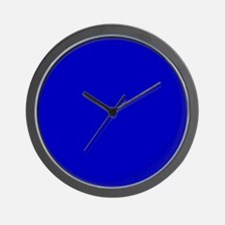Solid Cobalt Blue Color Wall Clock