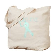 Lt. Teal Ribbon Tote Bag