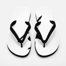 Silhouette of gymnastic girl Flip Flops