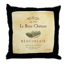 Le Beau Chateau Throw Pillow