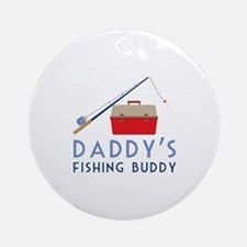 Fishing Buddy Round Ornament