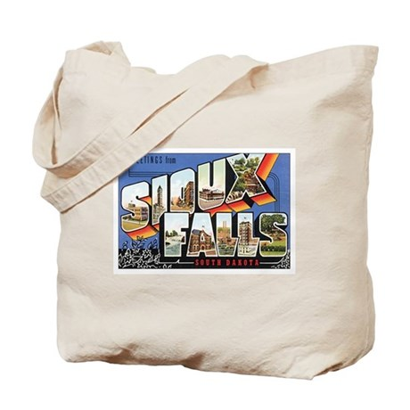 Sioux Falls Postcard Tote Bag