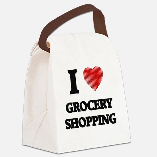 I love Grocery Shopping Canvas Lunch Bag
